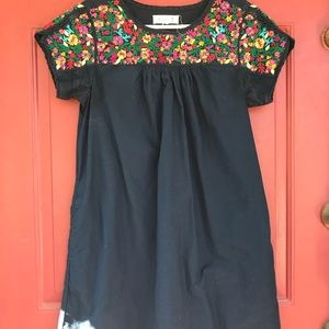 Madewell JM Drygood embroidered dress size small